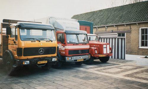 Vrachtwagens Van der Mark Transport Rotterdam oud